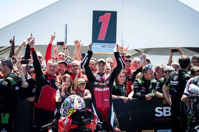 MotoGP   ドゥカティ、SBK第9戦アメリカで分かれた明暗。1年半ぶりの勝利に湧いたデイビス、左肩負傷のバウティスタ