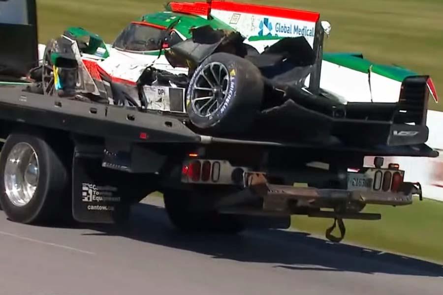 IMSA:キャデラックDPi全損のユンコス・レーシング、スペアシャシーで次戦出場へ