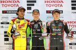 全日本F3選手権第12戦の表彰台