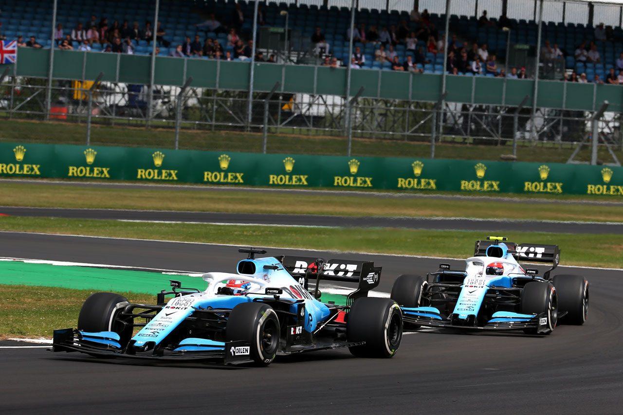 2019年F1イギリスGP ジョージ・ラッセルとロバート・クビサ(ウイリアムズ)