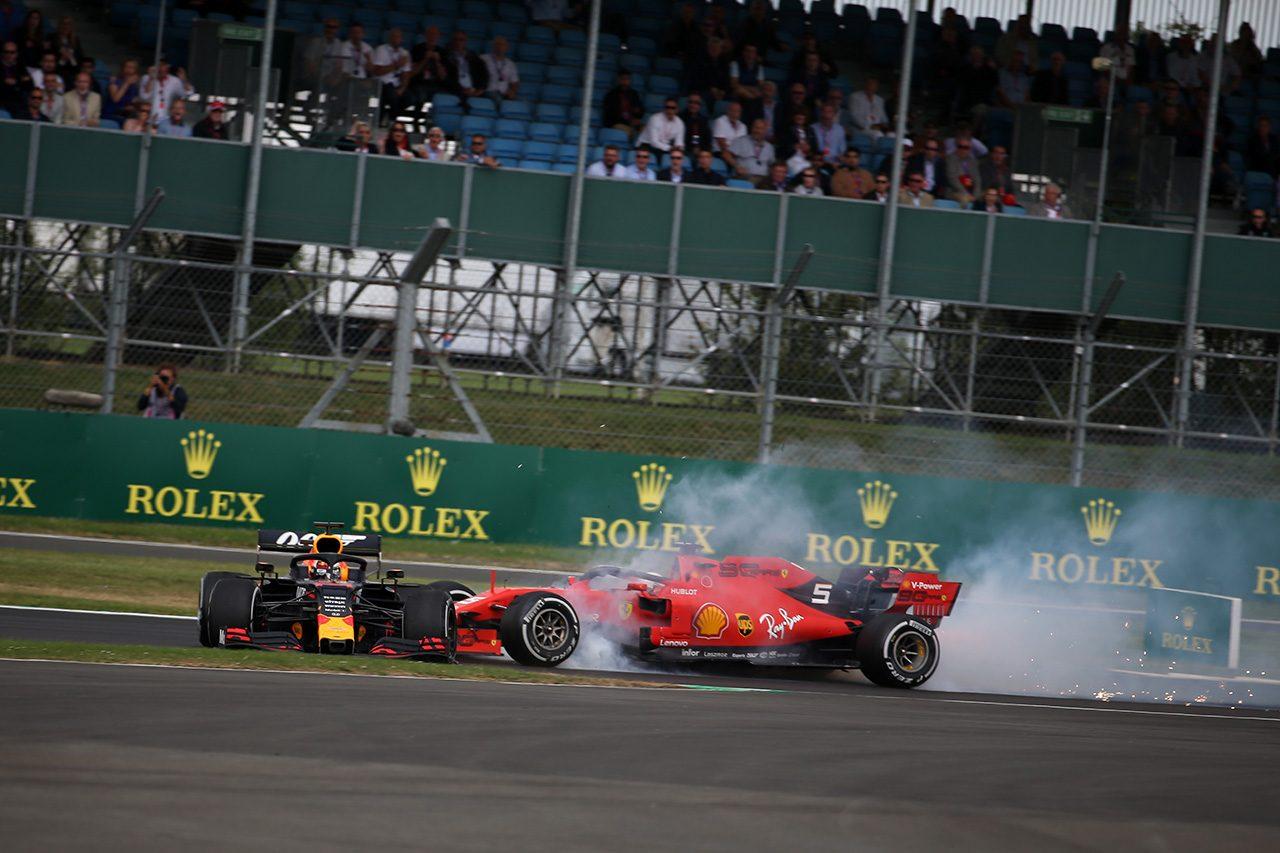 2019年F1第10戦イギリスGP ベッテルとフェルスタッペンが接触