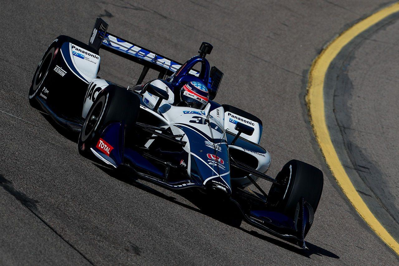 インディカー第12戦アイオワ予選:ペンスキー勢が上位を席巻。琢磨も得意コースで躍動