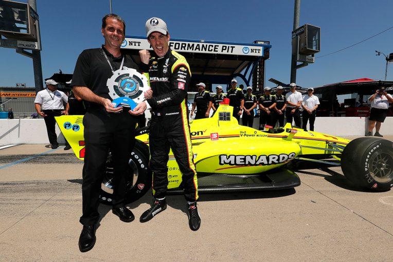 海外レース他 | インディカー第12戦アイオワ予選:ペンスキー3台が上位を席巻。琢磨も得意コースで躍動