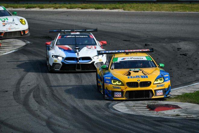 96号車BMW M6 GT3と24号車BMW M8 GTE