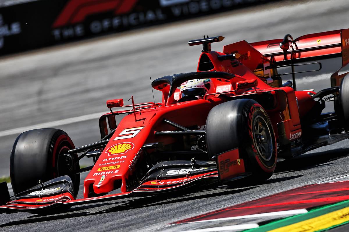 2019年F1第9戦イギリスGP セバスチャン・ベッテル(フェラーリ)