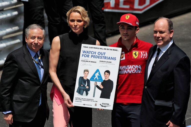 F1 | ルクレール、FIAによる交通安全のためのキャンペーン『#3500LIVES』に参加