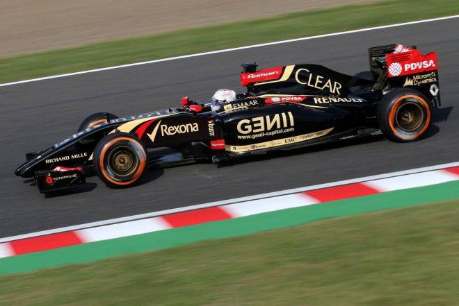 2014年F1第15戦日本GP ロマン・グロージャン(ロータス)