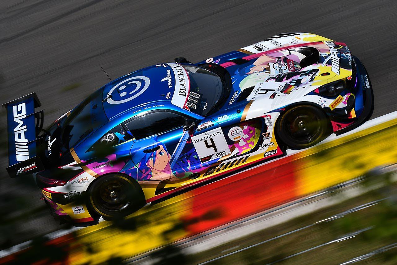 スパ24時間:暫定ポールはブラックファルコンの4号車メルセデスが獲得。千代&松田組GT-Rが15番手に