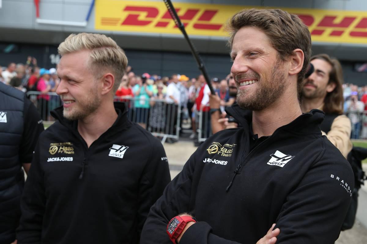 2019年F1第10戦イギリスGP ケビン・マグヌッセン、ロマン・グロージャン(ハース)