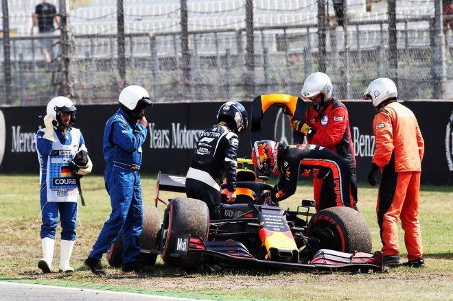 2019年F1第11戦ドイツGP FP2でピエール・ガスリーがクラッシュしマシンが大破