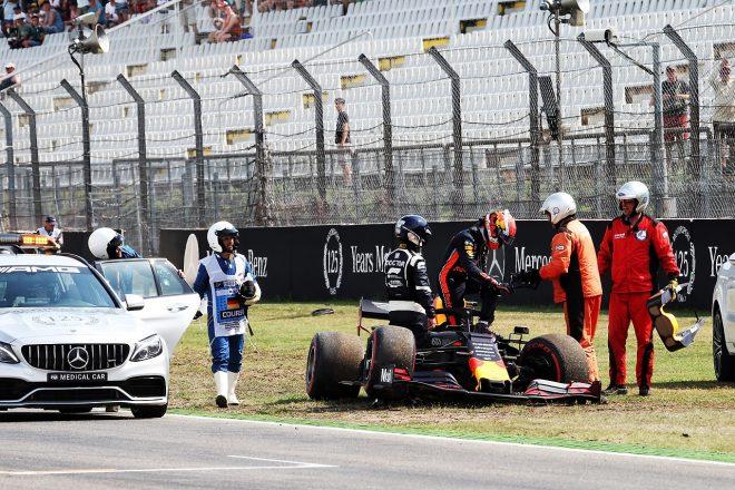 2019年F1第11戦ドイツGP金曜 FP2でクラッシュしたピエール・ガスリー(レッドブル・ホンダ)