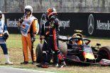 F1 | クラッシュのガスリー、マシンを大破しチームに謝罪「クルマの感触はよかった。予選で挽回したい」レッドブル・ホンダF1