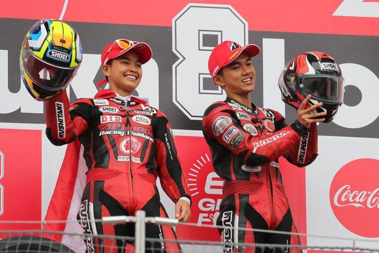 MotoGP | 鈴鹿4耐は雨で転倒が続出し赤旗終了。ホンダのタイチームが荒れたレースを制す