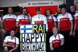 2019年F1第11戦ドイツGP キミ・ライコネンの誕生日を祝うチーム