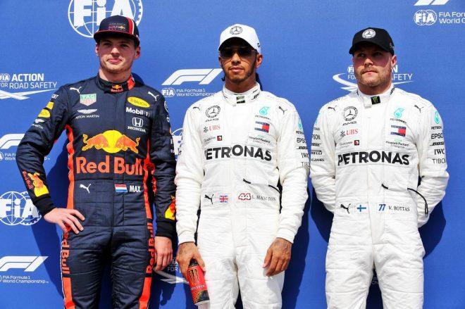 2019年F1第11戦ドイツGP予選、ルイス・ハミルトンがPP、2番手はマックス・フェルスタッペン、3番手バルテリ・ボッタス