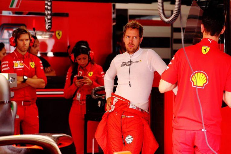 F1   「最悪のタイミングで問題が起きた」。ベッテル、ターボのトラブルで母国GPの予選を走れず。フェラーリ代表が謝罪