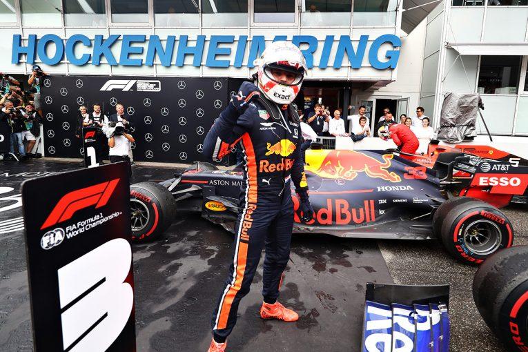 F1 | F1ドイツGP決勝【詳報】大荒れのレースを制したフェルスタッペンが今季2勝目、クビアトが3位に入りホンダ勢2台がW表彰台