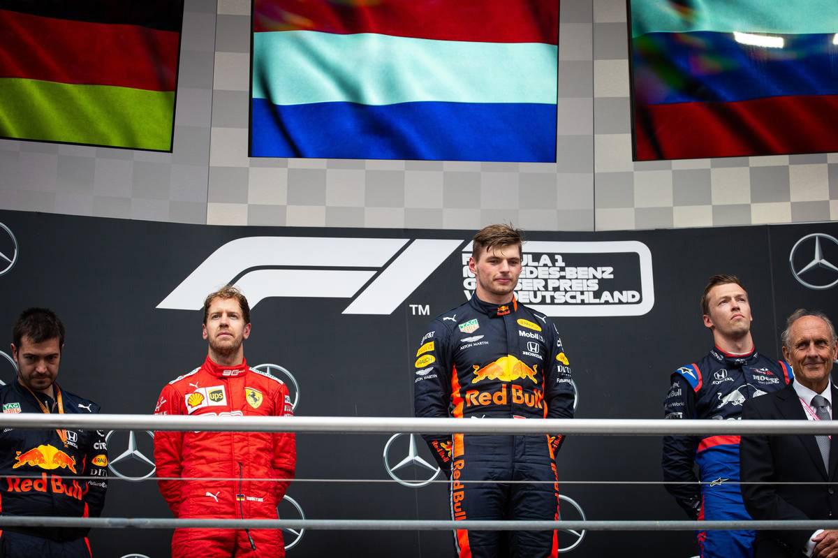 2019年F1第11戦ドイツGP 表彰台