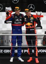 F1   2019年F1第11戦ドイツGP マックス・フェルスタッペン(レッドブル・ホンダ)、ダニール・クビアト(トロロッソ・ホンダ)