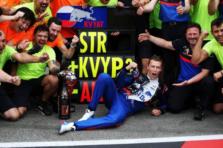 F1 | トロロッソ代表、3位表彰台インタビュー(2):2年前から大きく成長したクビアトに、「レッドブルで戦う能力が備わっている」と称賛