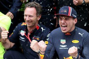 F1 | フェルスタッペン、ホンダ2勝目インタビュー:脱落するライバルを尻目に雨で強さを発揮「ウエット走行のコツは父が叩きこんでくれた」