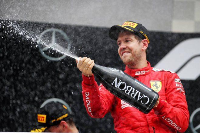 2019年F1第11戦ドイツGP決勝、セバスチャン・ベッテルが最後尾から追い上げて2位