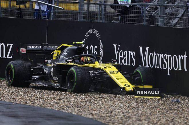 2019年F1第11戦ドイツGP クラッシュにより上位入賞がフイになってしまったニコ・ヒュルケンベルグ(ルノー)