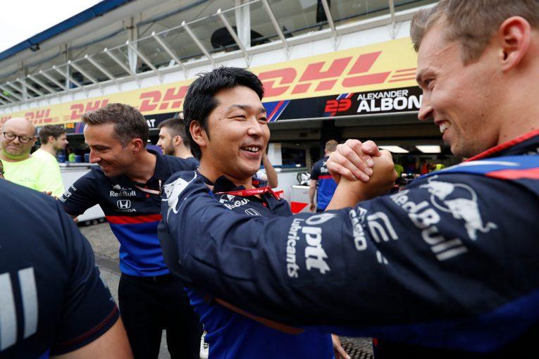 F1 | ホンダ本橋CEインタビュー:クビアトがサバイバルレースで3位表彰台の快挙。「トロロッソもホンダも、うまく噛み合ってこその結果」/F1ドイツGP