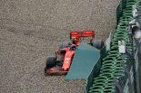 2019年F1第11戦ドイツGP クラッシュしたシャルル・ルクレール(フェラーリ)は無念のリタイア