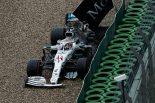 2019年F1第11戦ドイツGP決勝、クラッシュでフロントウイングを失ってしまったルイス・ハミルトン(メルセデス)