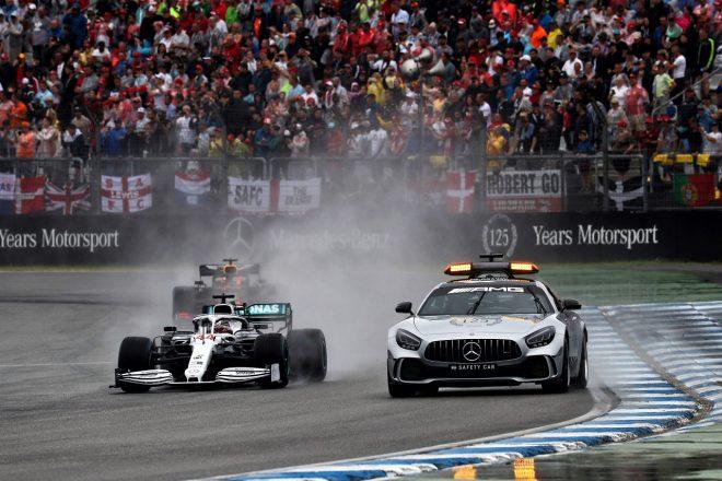 2019年F1第11戦ドイツGP レースをリードするルイス・ハミルトン(メルセデス)