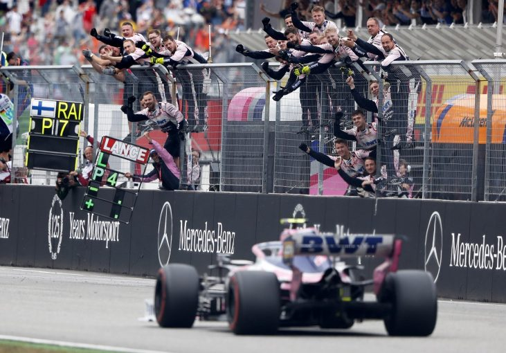 F1 | ストロール4位「表彰台に上がりそこねたのは残念だが、それでもうれしい結果」:レーシングポイント F1ドイツGP