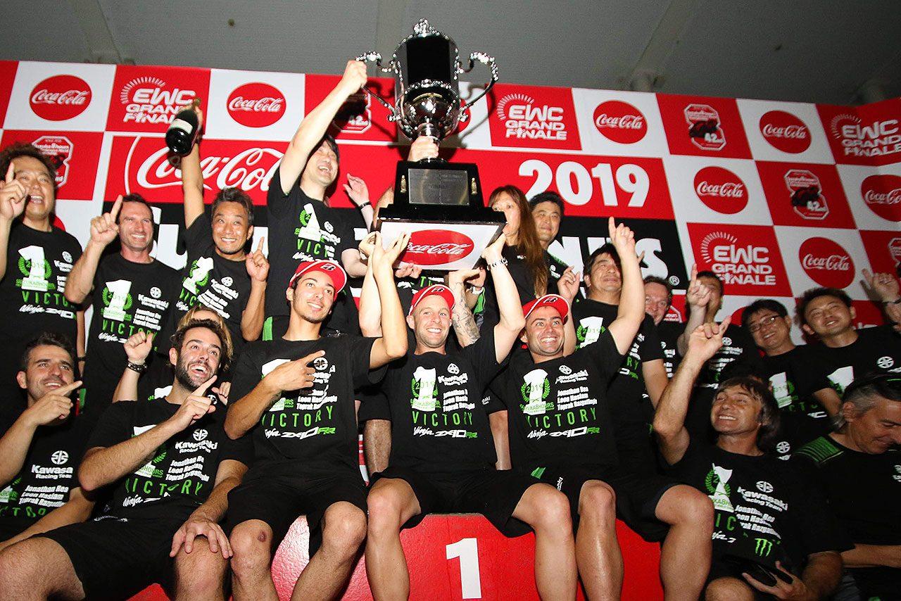 鈴鹿8耐決勝の正式結果発表。26年ぶりのカワサキ優勝確定