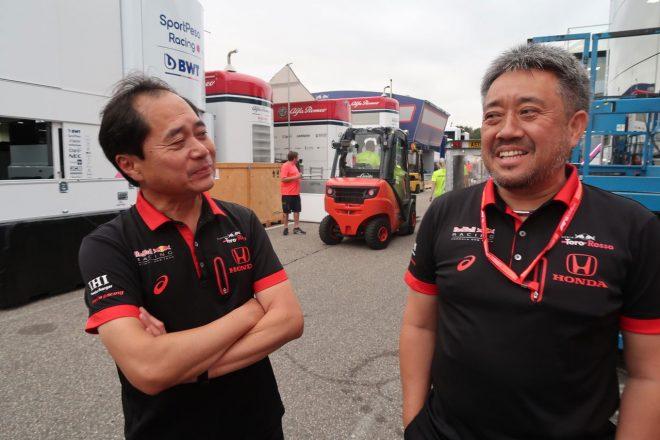 2019年F1第11戦ドイツGP ホンダ山本雅史マネージングディレクター、田辺豊治テクニカルディレクター
