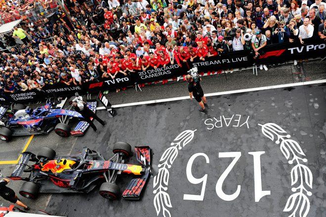 2019年F1第11戦ドイツGP 優勝したマックス・フェルスタッペン(レッドブル・ホンダ)