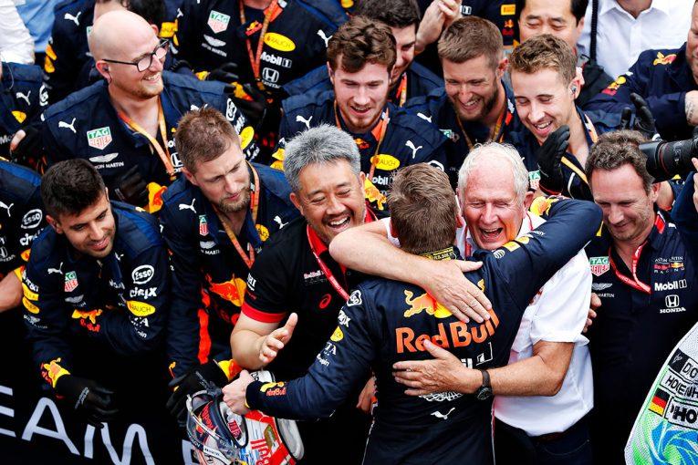 F1 | カオス渦巻くレースを制したフェルスタッペン。ホンダF1による2チーム揃っての表彰台は1988年以来の戦果【今宮純のドイツGP分析】