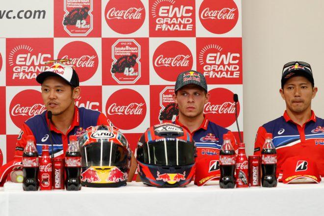 #33 Red Bull Honda 高橋巧、ステファン・ブラドル、清成龍一