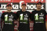 鈴鹿8耐で26年ぶりに優勝したカワサキ(レオン・ハスラム、ジョナサン・レイ、トプラク・ラズガットリオグル)