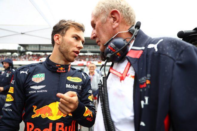 2019年F1第11戦ドイツGP日曜 ピエール・ガスリー(レッドブル・ホンダ)とヘルムート・マルコ