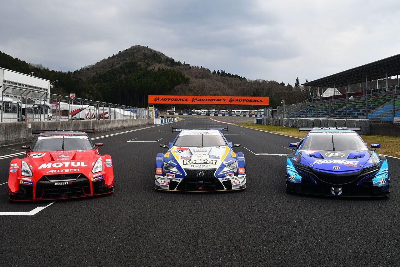 2019年のスーパーGT GT500クラスを戦うマシンたち