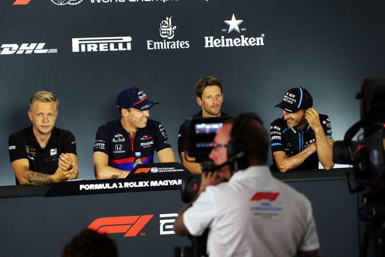 F1 | F1第12戦ハンガリーGP木曜会見:緊張感に包まれたハースふたりに挟まれても、クビアトは終始上機嫌