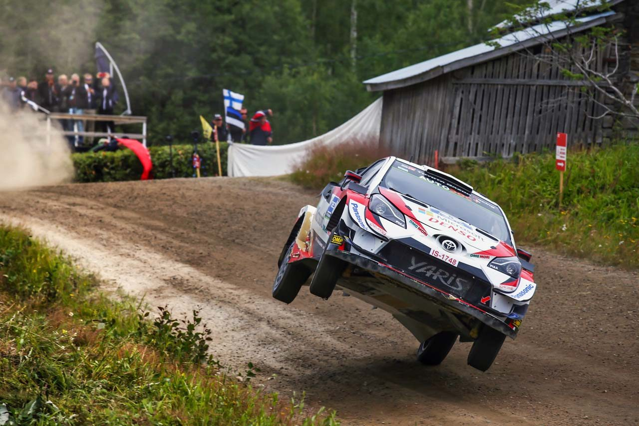 "WRC:トヨタ、""ホーム""で3台が優勝争いを展開。マキネン「3人の戦いをわくわくしながら見ていた」"