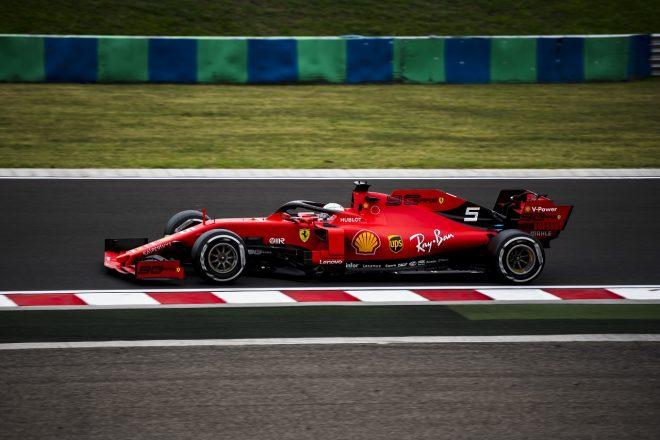 2019年F1第12戦ハンガリーGP金曜 フェラーリのセバスチャン・ベッテル