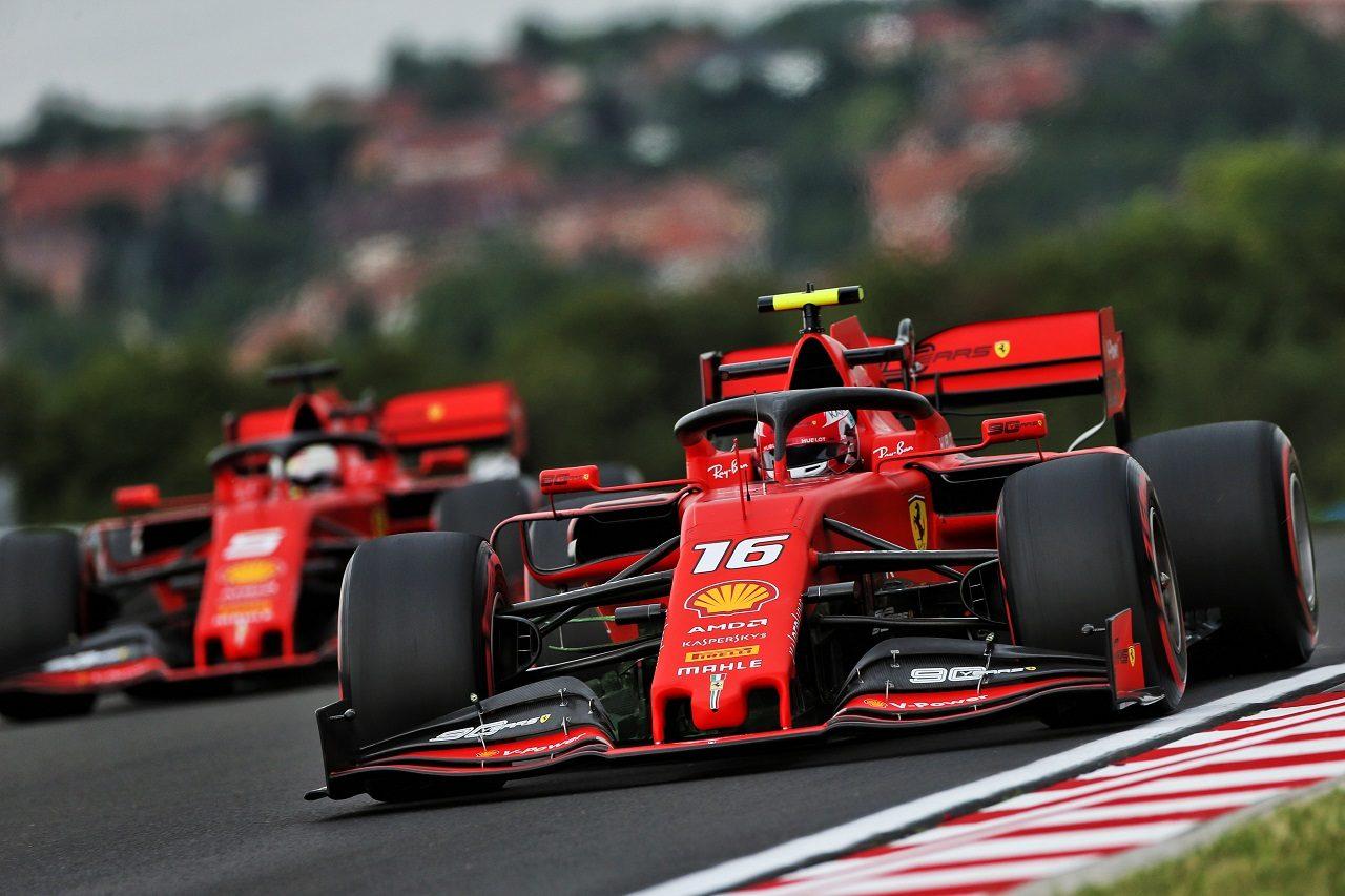 2019年F1第12戦ハンガリーGP金曜 シャルル・ルクレールとセバスチャン・ベッテル(フェラーリ)
