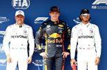 2019年F1第12戦ハンガリーGP マックス・フェルスタッペンが予選ポールポジション、2番手バルテリ・ボッタス、3番手はルイス・ハミルトン