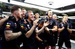 2019年F1第12戦ハンガリーGP マックス・フェルスタッペンの予選PPで歓喜にわくレッドブル・ホンダ