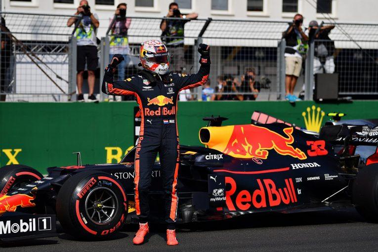 F1 | ホンダF1、新トラックレコードで復帰後初ポール「レッドブル、マックスと共に勝ち取った成果。優勝につなげたい」と田辺TD
