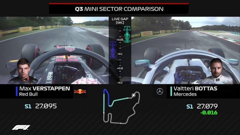 F1第12戦ハンガリーGPの予選アタックを比較する動画が公開されている