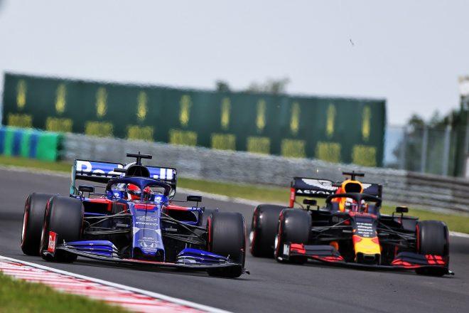 2019年F1第12戦ハンガリーGP土曜 ダニール・クビアト(トロロッソ・ホンダ)とマックス・フェルスタッペン(レッドブル・ホンダ)