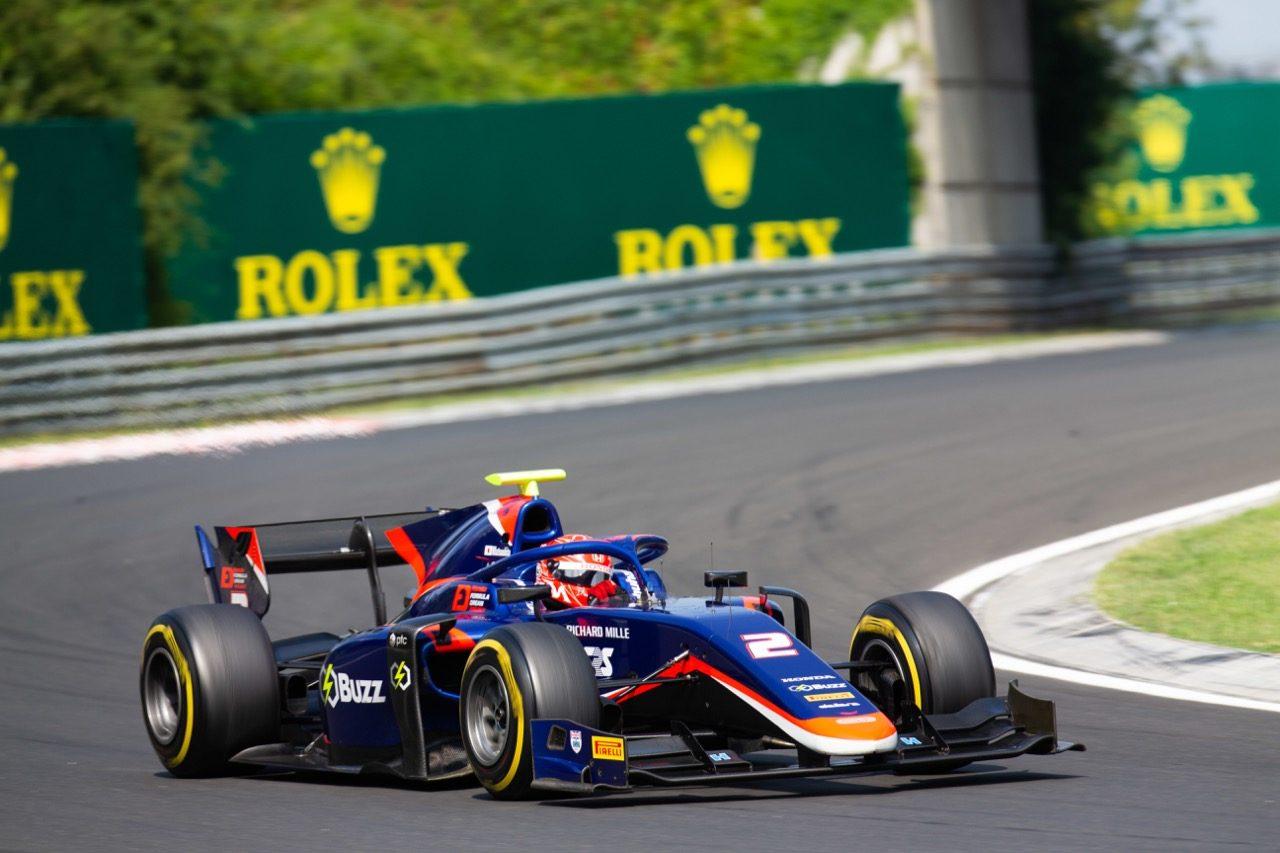 FIA-F2第8戦ハンガリー レース2:松下信治が2位表彰台獲得! 激戦を繰り広げたシューマッハーが初優勝。